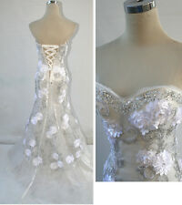 NWT RIVA DESIGNS R9450 White $598 Formal Prom Gown 10