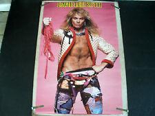 Rare David Lee Roth Van Halen 1986 Vintage Original Music Poster