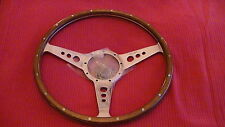 "Moto-Lita 15"" MK3  DISHED HOLES WOODRIM STEERING WHEEL FORD MUSTANG / BMW / VW"