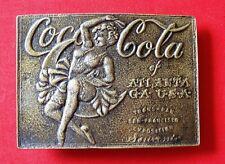 Vintage Coca Cola Trans Pan Exposition San Francisco Belt Buckle