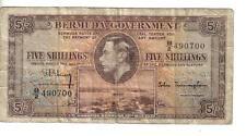 BERMUDA, 5 SHILLINGS, KGVI, 1937