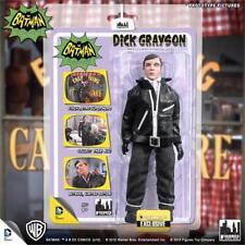 DC Retro Mego Style Batman TV Series Dick Grayson Undercover Jacket Figure