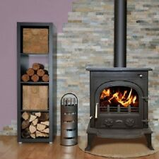 New Heritage Cashel 5kw Wood Log Burner Stove Room Heater Matt Black UK Stock