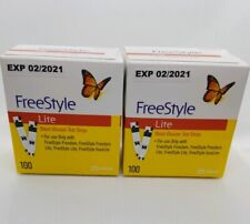 FREESTYLE LITE TEST STRIPS 200 CT EXP 02/2021 BRAND NEW SEALED FREE SHIP