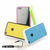 For Apple iPhone 5c Clear Case Ultra Thin Hard Case Back Cover Hybrid Gel Bumper