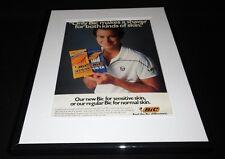 John McEnroe 1985 Bic Shaver Framed 11x14 ORIGINAL Vintage Advertisement