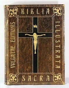 art nouveau book designed by Walter Crane, Holy Bible, Biblia Sacra, 1901, 3 vol