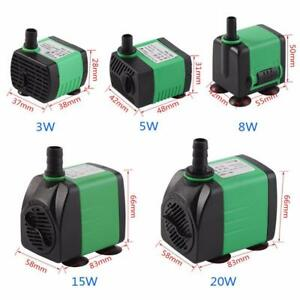 Submersible Water Pump For Aquarium Fish Tank 3W-20W 220-240V Energy Saving G6F4