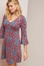 Anthropologie barrie sweater  pretty floral bell sleeve dress size XL new nwt