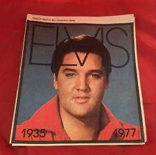 1977 Original ELVIS PRESLEY FUNERAL DEATH NEWSPAPER MAGAZINE CHARLOTTE NEWS SUPP