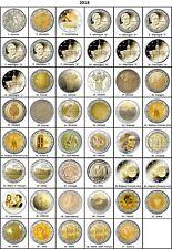 TOUTES LES PAYS DISPONIBLES ANNÉES 2018 - 2 Euros Commemorative - NOUVEAU UNC