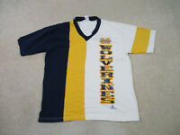VINTAGE Michigan Wolverines Shirt Adult Large White Yellow Football Men 90s B2*