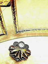 pleats fan out as skirt lge aus Angel Pin Antique Silver w/gold plate bow folded