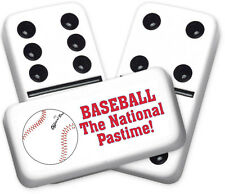 Sports Series Baseball Design Double six Professional size Dominoes