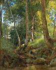 The Brook Ivan Shishkin Forest Landscape Fine Art Print on Canvas Repro 8x10 SM