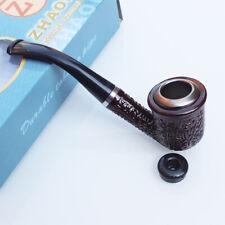 Mahogany Smoking Pipe 8mm Filter Grinder Pipe Tool Holder Screen Pot Set N44