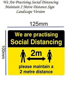 2 meter distance sign