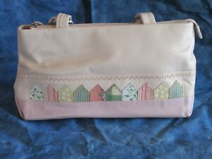 Brand New Super Pink Leather Radley Bag with Cloth Dust Cover. Beach Hut Design