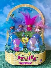 DAM Easter Egg Hunt The Original Good Luck Trolls Dolls COMPLETE SET