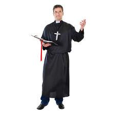 "Mens Priest Costume Black 42"" - 44"" Chest Fancy Dress Costume"