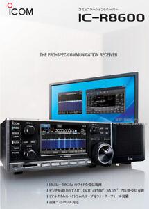 NEW ICOM IC-R8600 Desktop Unlocked Wideband Radio Receiver BOX SSB/AM/FM/WFM/CW