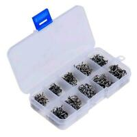 Details about  /Lots 50Pcs Perforated Hooks Box Assorted Fishing Sharpened Hook Lure Tackle Bait
