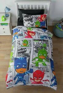 PJ Masks Bedding Set - Toddler Junior Duvet & Pillowcase 120 x 150 cm
