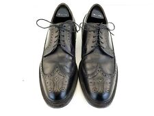Mason Executive Imperials Black Leather Wingtip MensDress Shoes Brogue Oxford 9B