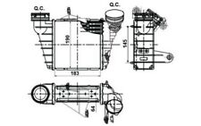 NRF Intercooler radiador admisión de aire Para SEAT IBIZA 30476