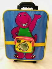 Barney And Baby Bop 1998 Children's Rolling Suitcase Carry Bag Vintage Lyons