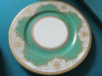 """Regina Green by BLACK KNIGHT DINNER PLATES GREEN GOLD ENCRUSTED 10"""""""