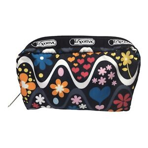 LeSportsac Classic Women's Rectangular Floral Small Cosmetic Make Up Bag