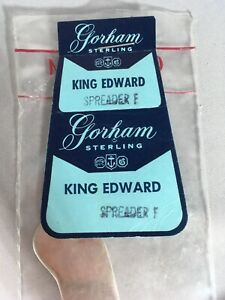 "Gorham King Edward Sterling 6 Inch Butter Knife ""Spreader F"" New In Plastic"