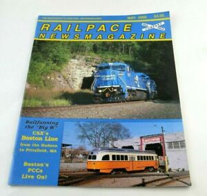 Railpace News Magazine Newsmagazine Train Illustrated Pictures Info May 2000