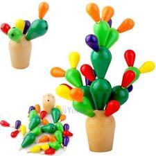 Épineux Poire Cactus En Bois Blocs Mosaïque Puzzle Assemblage Jouets Démolition