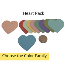 20 Genuine Stampin Up Paper Cardstock Heart Pack Punch Shape Die Cut Tag