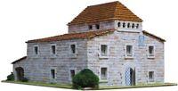 Maison de campagne du Barça ( Espagne) - Ech 1/75 - 3400 pcs - 33 x 25 x 17,5 c