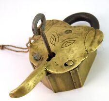 Unique Lock India Hindu God Ganesha Shape Padlock Rare Old Collectible G2-348