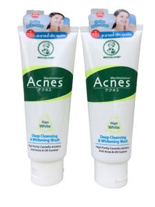 2 x Mentholatum Acnes Deep Cleansing & Whitening Wash  100  g