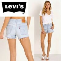 """New Levi's Womens 501 Destroyed Hem Button Fly Shorts US Size 0 Waist 25"""""""