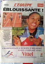 L'Equipe Journal du 12/08/1994; Championnats d'Europe d'athlétisme; Pérec en Or