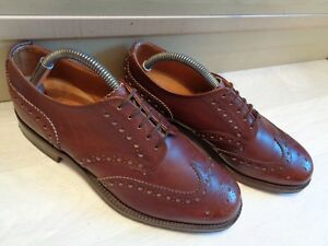 Jones Bootmaker bench made brogue UK 7 41 brown leather wingtip derby by Cheaney