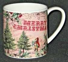Rose of England Fine Bone China Merry Christmas Coffee Mug.