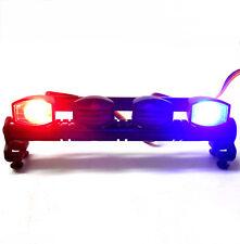 L-045RB 1/10 Monster Truck Body Shell Roof Mount Light Set Red Blue 4 LEDs Black