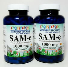 SAM-e 1000mg 2x 180 Capsules *PURE* Nervous System, Mood & Joints Health
