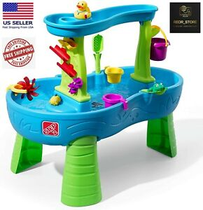 Step2 Rain Showers Splash Pond Water Table   Kids Water Play Table 13-Pc Set