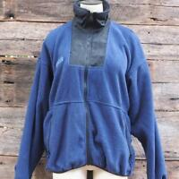 Columbia Fleece Jacket Women's Full Zip Black Blue Size M Medium