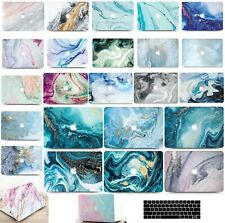"""2020 Macbook Air Pro 11 12 13 15 16"""" Marble Hard Shell Case Keyboard Cover MC"""