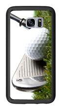 3 Iron Golf Club Hitting Golf Ball For Samsung Galaxy S7 G930 Case Cover by Atom