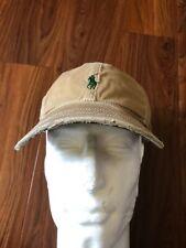 Vintage Polo Ralph Lauren PRL Supply Co Khaki Tan Leather Strap Hat Cap